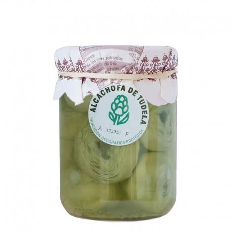 Alcachofa extra de Tudela al natural OSÉS 12-16 frutos frasco 450 g Peso Neto