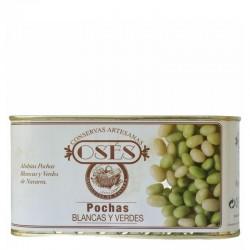 OSÉS Pochas al natural blancas y verdes lata 450 gr. peso escurrido
