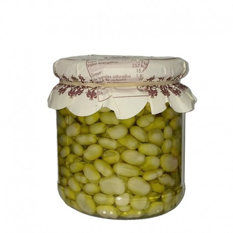 OSÉS Habitas fritas en aceite de oliva tarro 400 gr. peso neto